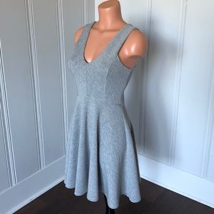 Altar'd State Gray Salford Knit Fit Flare Dress M